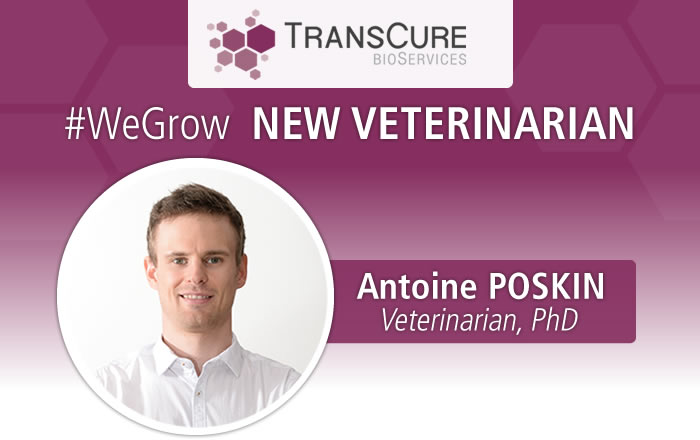 TransCure bioServices (TCS) hired Antoine POSKIN, Veterinarian, PhD to manage the animal Facilities and get the AAALAC accreditation