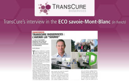 TransCure's interview in the ECO Savoie Mont-Blanc (in french)