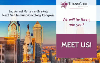 TransCure at at the Next Gen Immuno-Oncology Congress. 2019