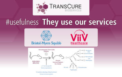 BMS and Viiv published efficacy data using TransCure's full human immune system hu-mouse models