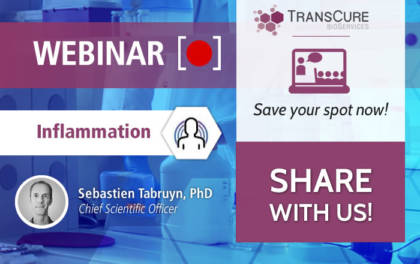 TransCure bioServices Webinar 2020 Series on Inflammation